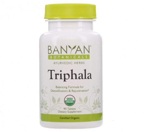 Triphala tablets, certified organic by Banyan