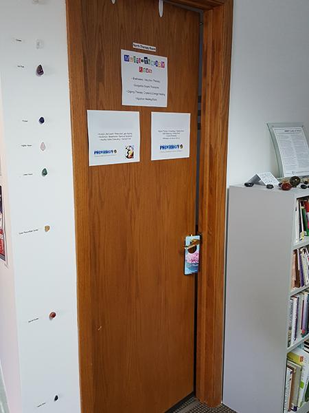 North Therapy Room door