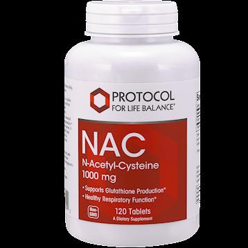 NAC 1,000 mg 120 tabs by Protocol For Life Balance