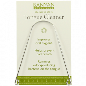 Tongue Cleaner (Stainless Steel) 1 pcs by Banyan Botanicals