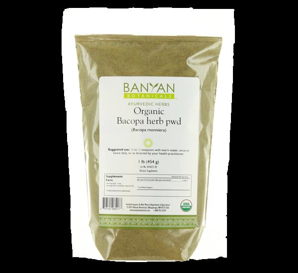 Bacopa Herb Powder 1 lb from Banyan Botanicals