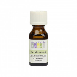 Sandalwood in Jojoba .5 oz - Aura Cacia Pure Essential Oils