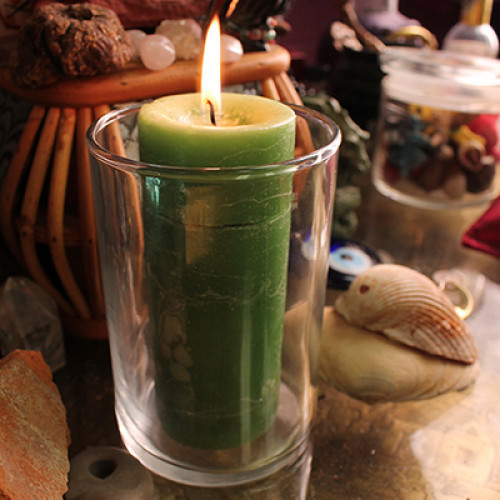 Candle Holder - Blessed Herbal Affirmation size