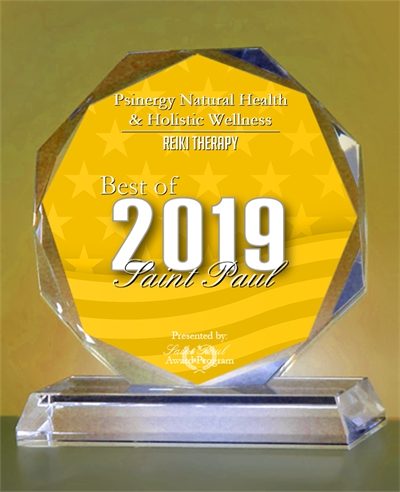 Psinergy Natural Health & Holistic Wellness 2019 Best of Saint Paul Award in Reiki Therapy
