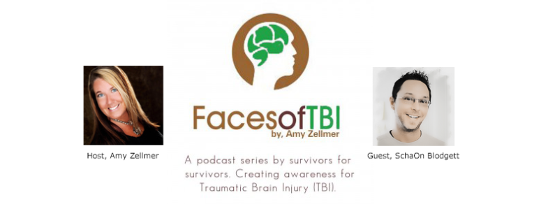 "Radio Interview with Amy Zellmer/Faces of TBI: ""SchaOn Blodgett talks about a healers own concussion rehab"""