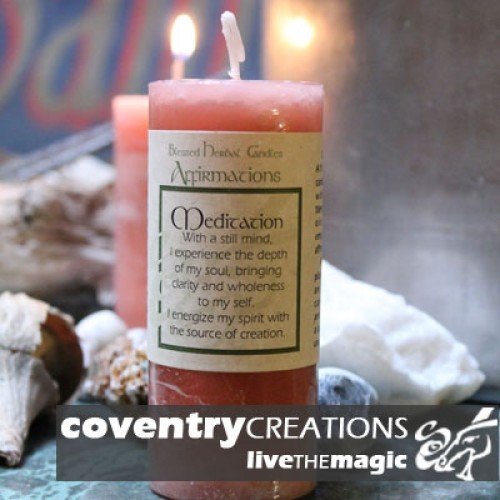 Meditation - Blessed Herbal Affirmation Candle