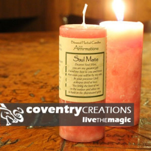 Soul Mate - Blessed Herbal Affirmation Candle