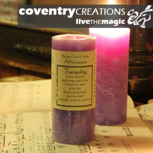 Tranquility - Blessed Herbal Affirmation Candle