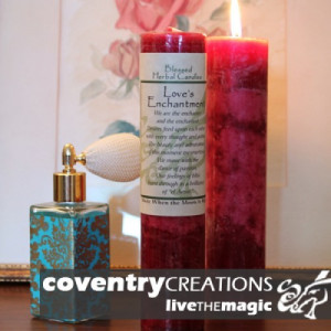 Love's Enchantment - Blessed Herbal Candle