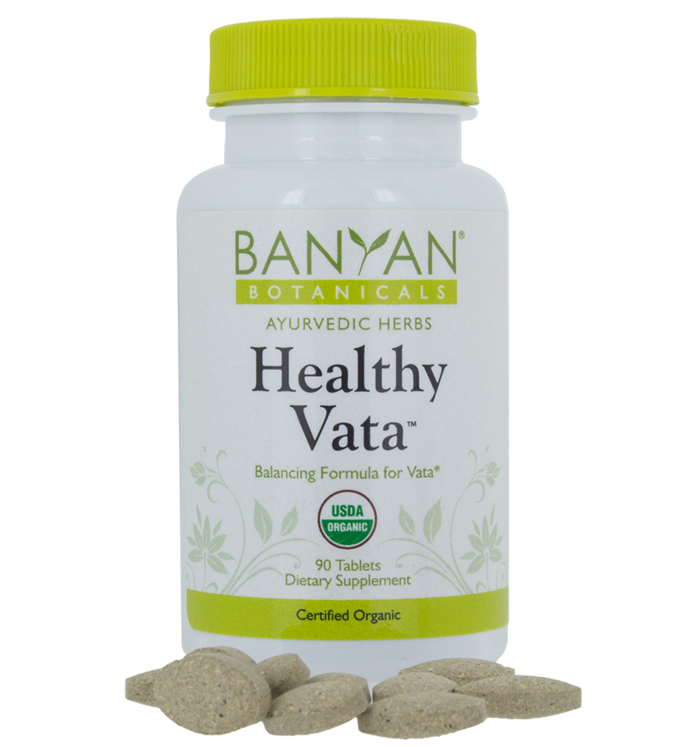 Healthy Vata tablets, 90 tabs - Banyan Botanicals