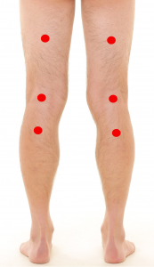 Basic Leg Detox Points (Colorpuncture therapy)
