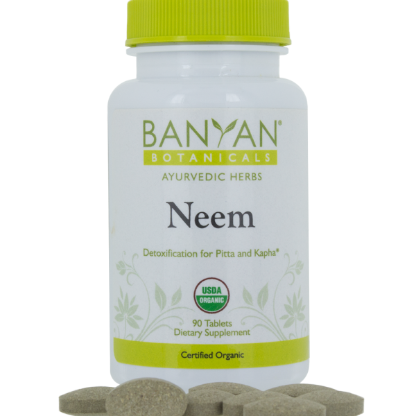 Neem 500 mg, 90 tabs by Banyan Botanicals