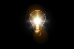 Light bulb in head (a bright idea)