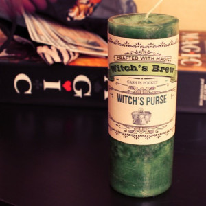 Witches Purse Prosperity Spell - Witches Brew Candle